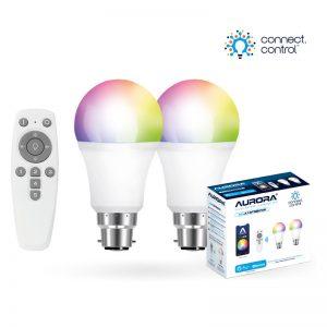 Aurora AU-A1BTGBCWK AOne Bluetooth Connect Control Kit with 2x8w BC GLS lamps and remote control