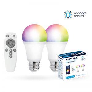 Aurora AU-A1BTGECWK AOne Bluetooth Connect Control Kit with 2x8w ES GLS lamp and remote control