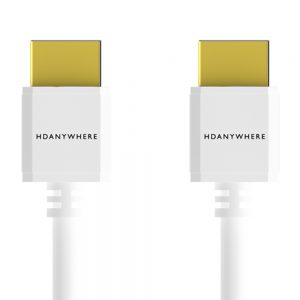 White SlimWire High Speed HDMI Cable